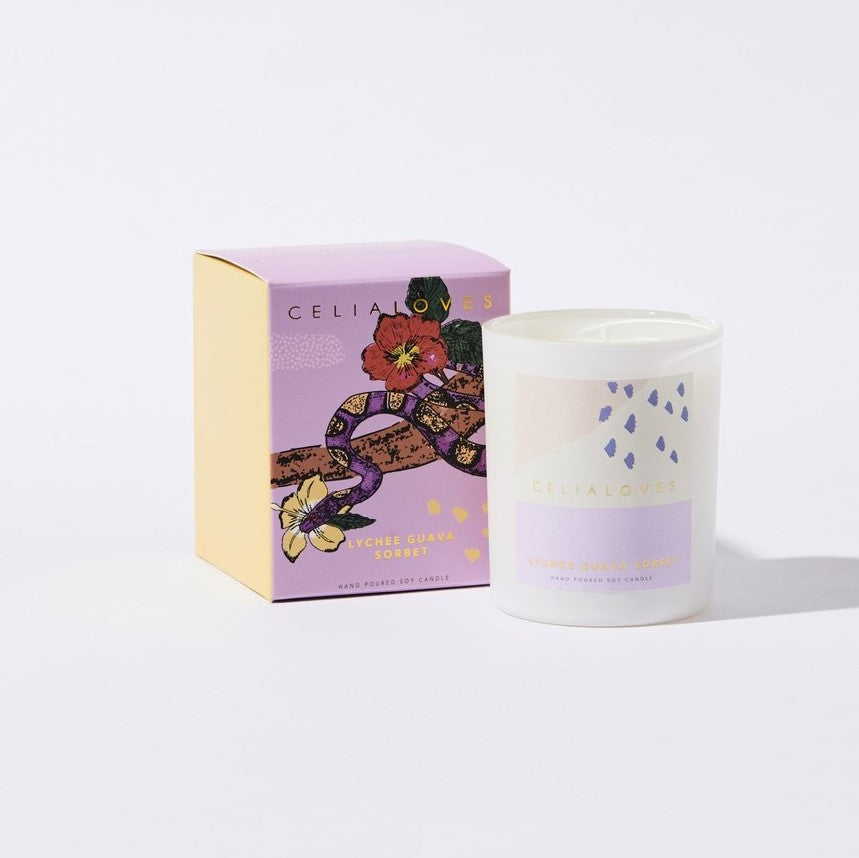 Celia Loves Lychee Guava Sorbet Candle