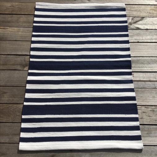 Outdoor Hampton Stripe Small Mat