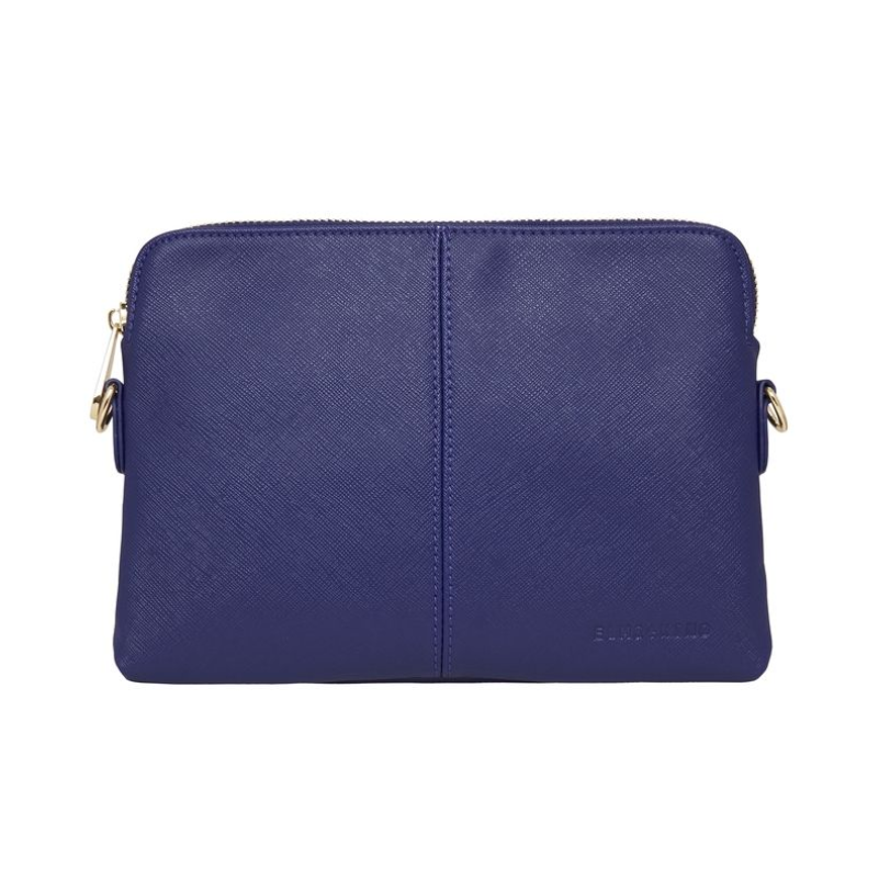 Bowery Wallet Crossbody Navy Saffiano