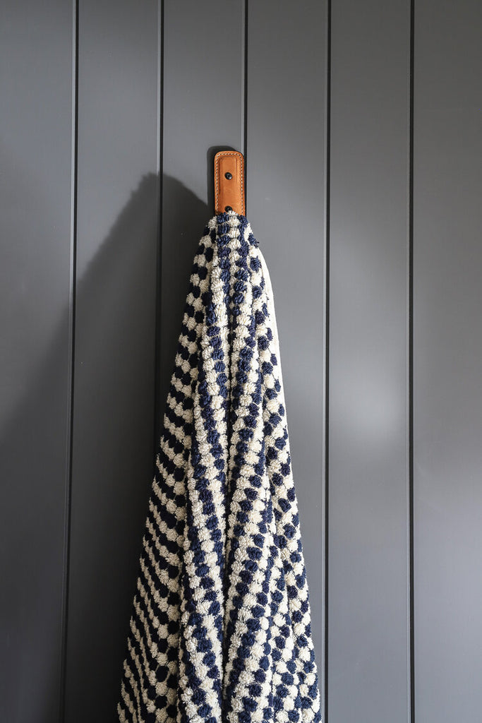 Navy/White Bath Towel by Miss April