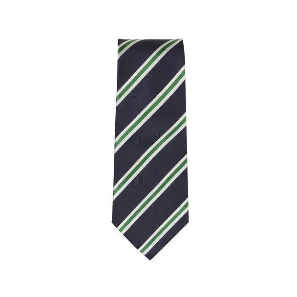 ORTC Silk Tie Green & White Stripe