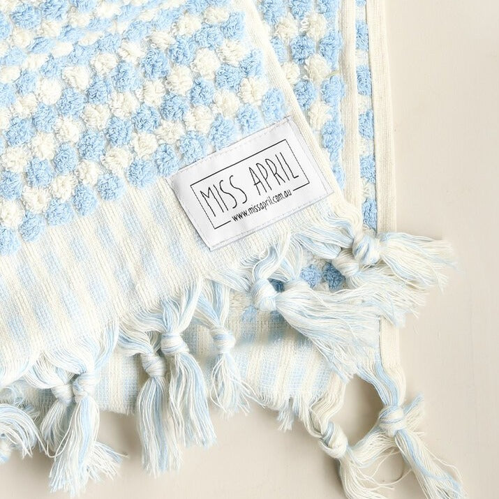Pale Blue Bath Towel by Miss April