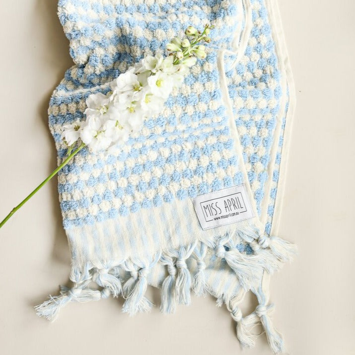 Pale Blue Hand Towel by Miss April