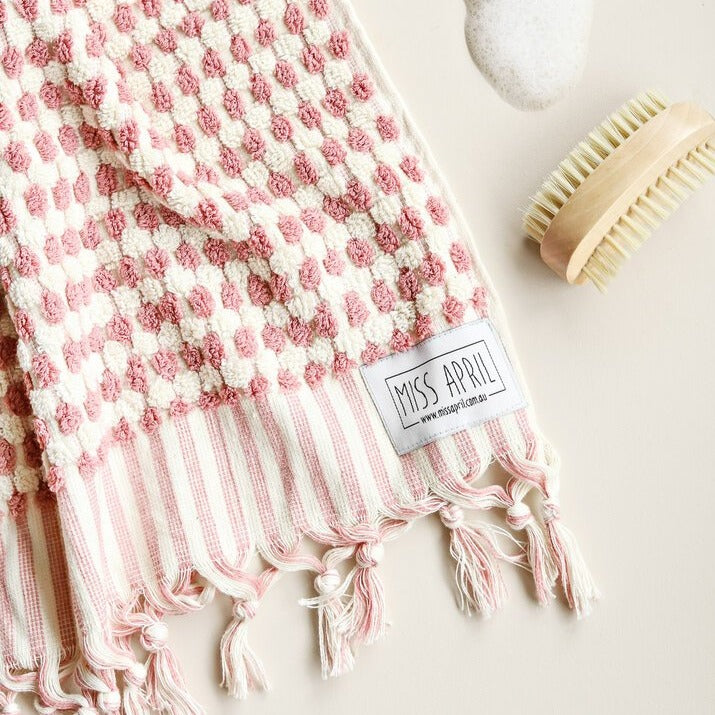 Pale Pink Hand Towel by Miss April