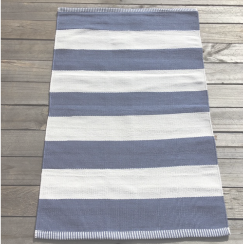 Outdoor Deck Denim Stripe Small Mat