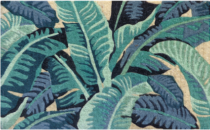 Tropical Leaves Doormat
