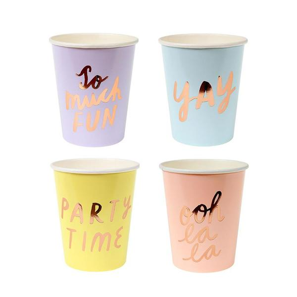 Typographic Party Cups 8Set