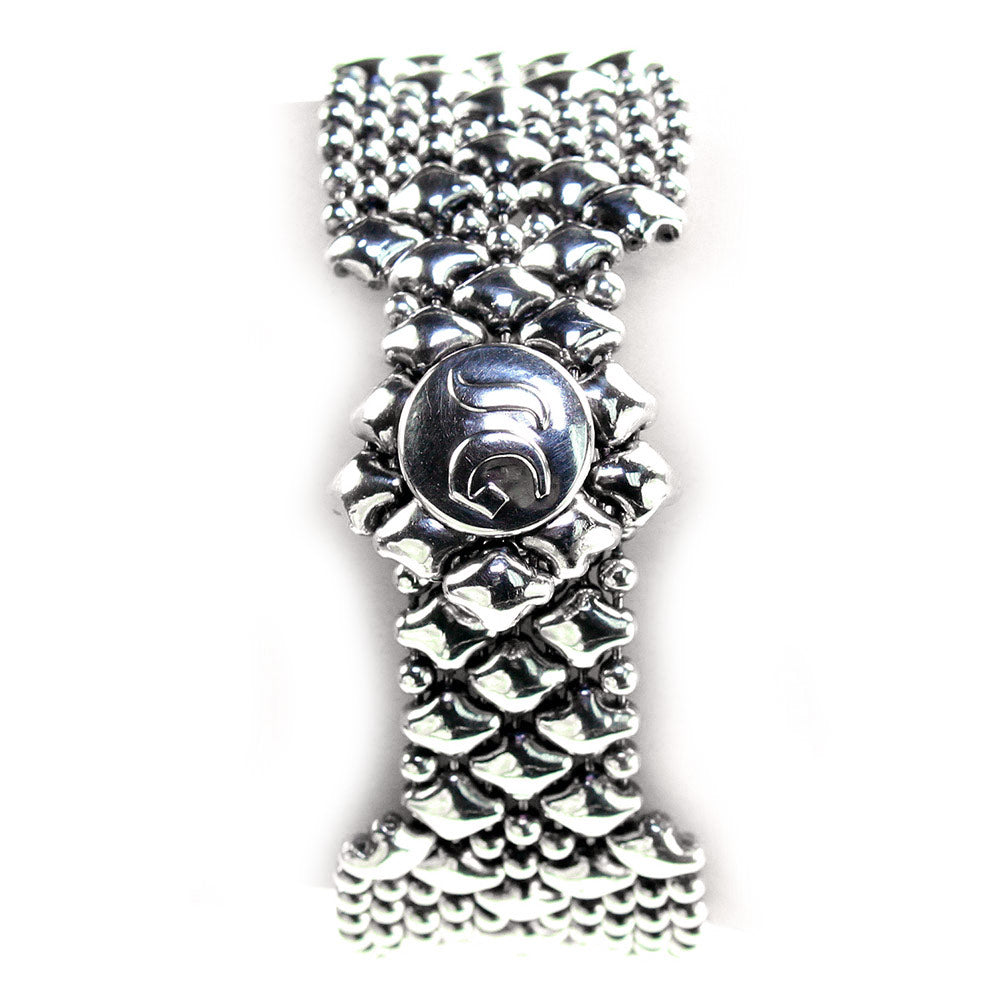B4-AS Antique Silver Bracelet - Liquid Metal by Sergio Gutierrez