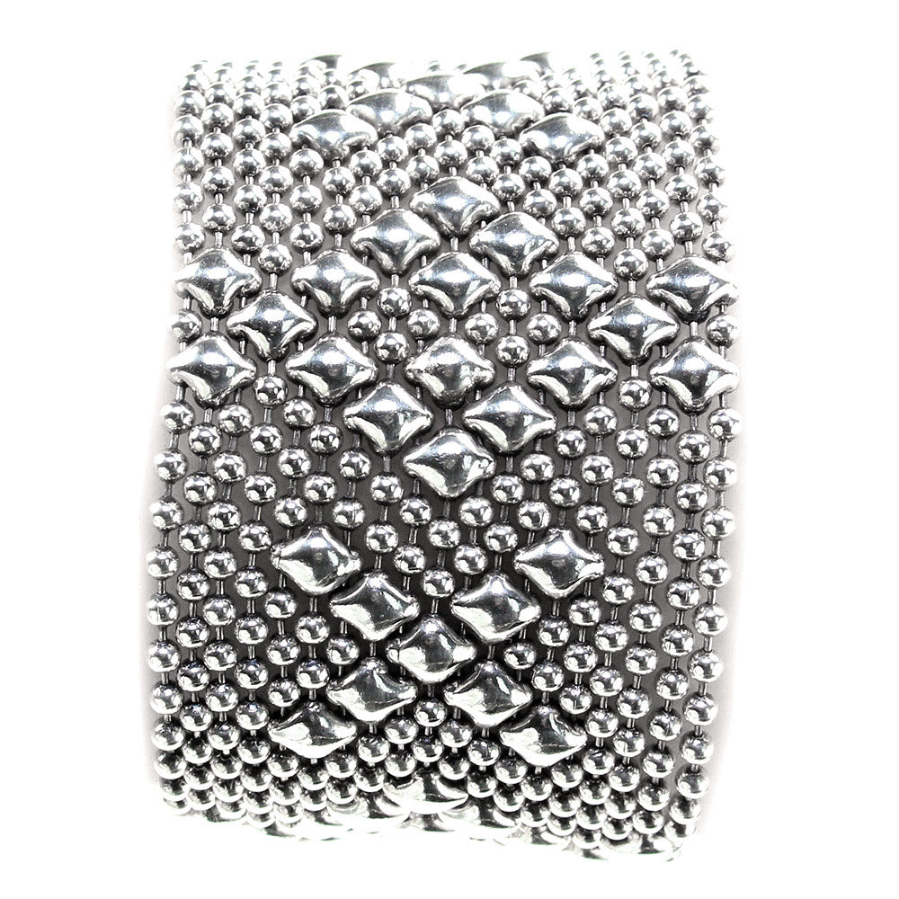B45-AS Antique Silver Bracelet - Liquid Metal by Sergio Gutierrez