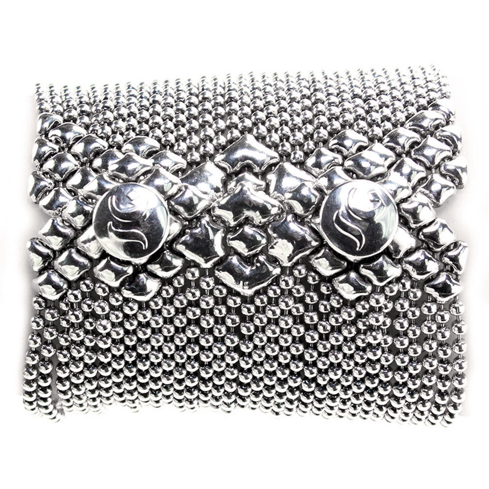 B50-AS Antique Silver Bracelet - Liquid Metal by Sergio Gutierrez