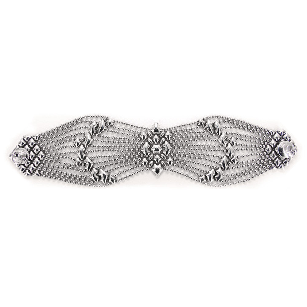 B77-AS Antique Silver Bracelet - Liquid Metal by Sergio Gutierrez