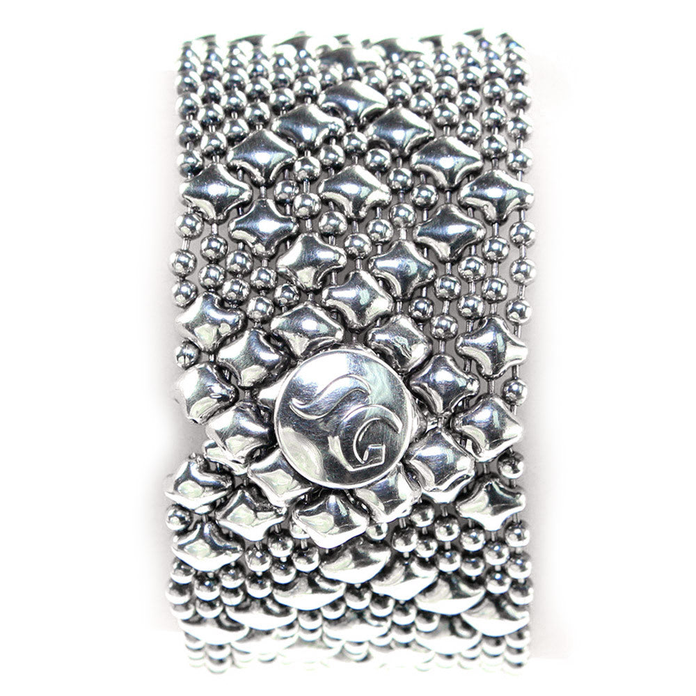 B9-AS Antique Silver Bracelet - Liquid Metal by Sergio Gutierrez