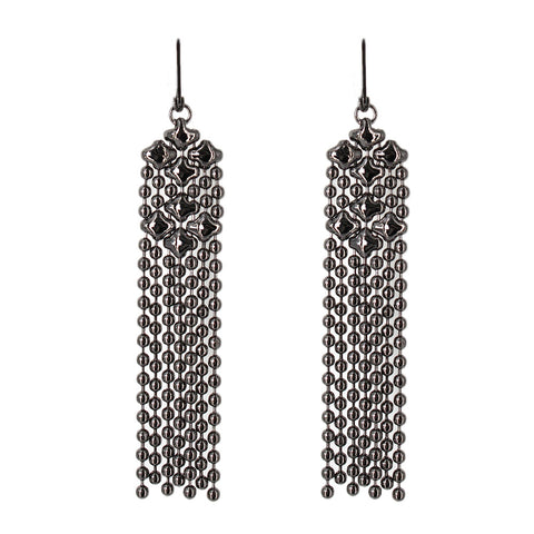 E14-BLK Black Chrome Finish Earrings - Liquid Metal by Sergio Gutierrez