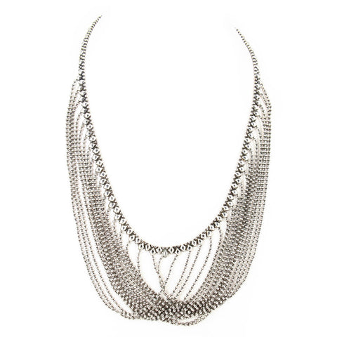 N15-AS Antique Silver Necklace - Liquid Metal by Sergio Gutierrez