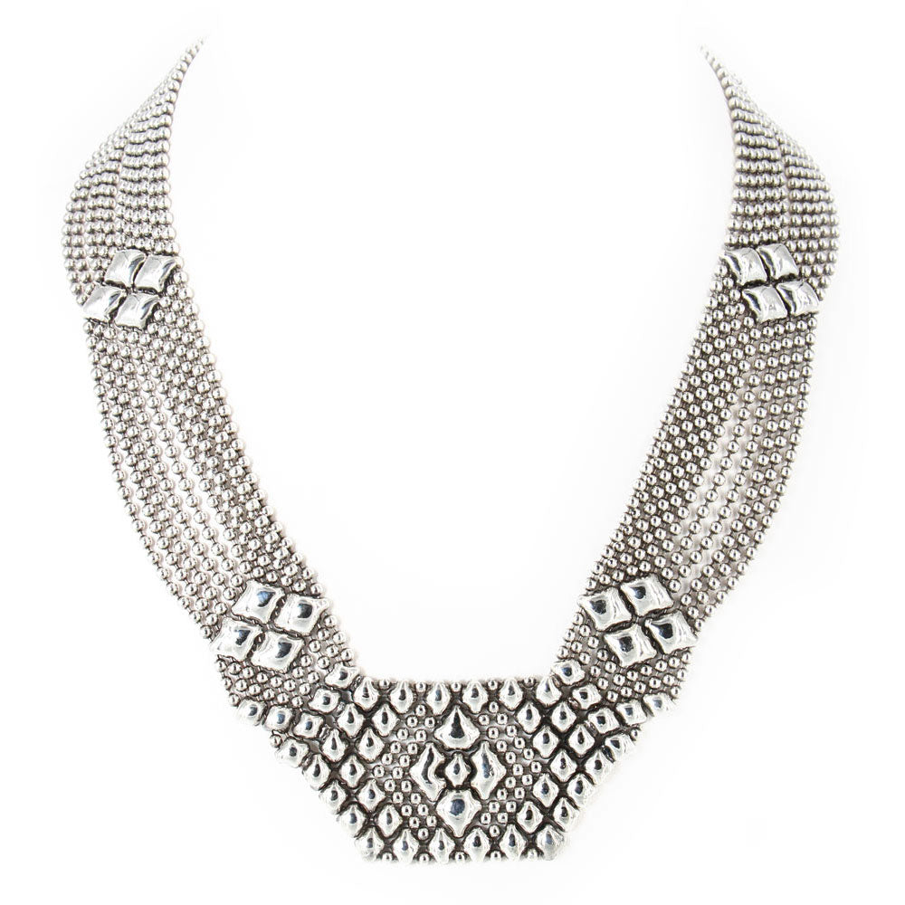 N5-AS Antique Silver Necklace - Liquid Metal by Sergio Gutierrez