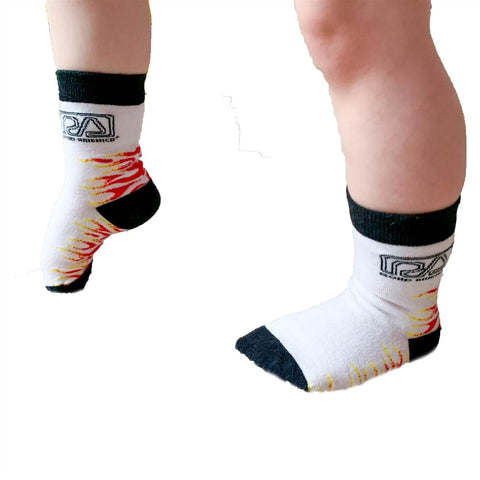 Kids RA Flame Socks