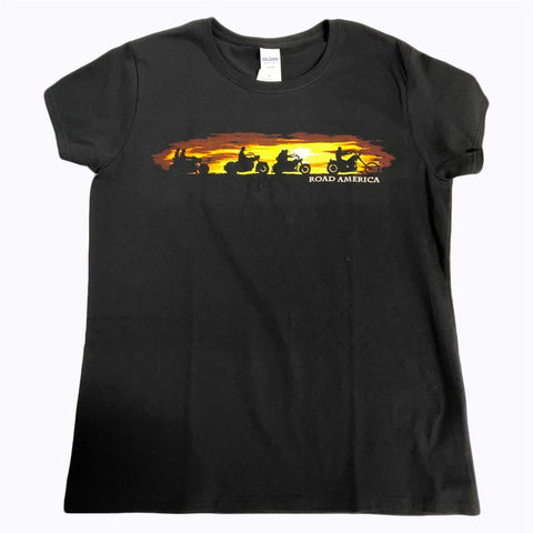 Ladies Sunset Bikes Tee