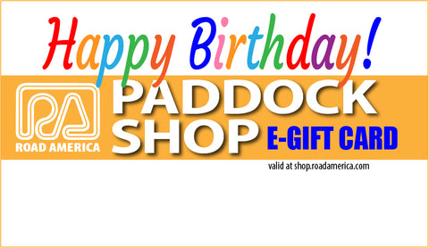 PADDOCK SHOP Birthday E-Gift Card ($10-$100)