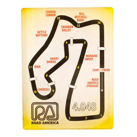 Track Map Magnet