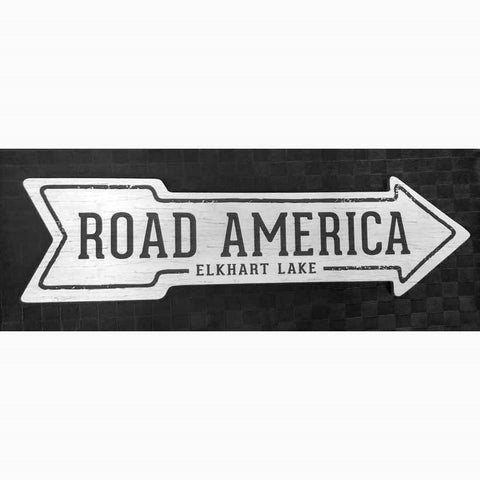 Road America Arrow Sign