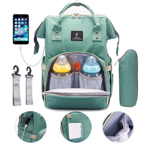 Diaper Bag With USB Interface .