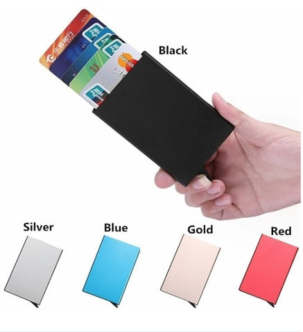 Image of Aluminum bank card package credit card wallet rfid shield card set card box document package metal wallet