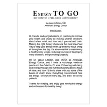 FREE E-book: Energy TO GO