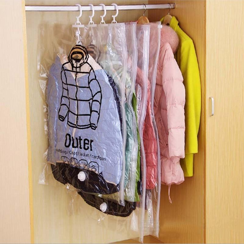 (Hot sale today)Hanging Vacuum Storage Bag-Release 3 times the wardrobe space
