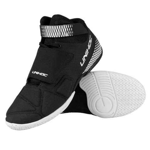 Unihoc black U4 Goalie Shoes - DekGoalie