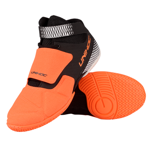 Unihoc orange U4 Goalie Shoes - DekGoalie