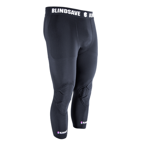 Blindsave Compression Tights- 3/4 with knee protection - DekGoalie