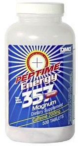 Peptime Stimulant 357 Magnum Caffeine Pills 500 Count Bottle 200mg Caffeine A Piece