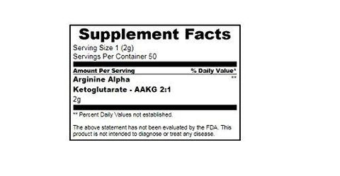 True Nutrition Arginine Alpha Ketoglutarate - AAKG 2:1 Powder