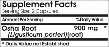 Osha Root 900mg // 90 Capsules // Pure // by PureControl Supplements