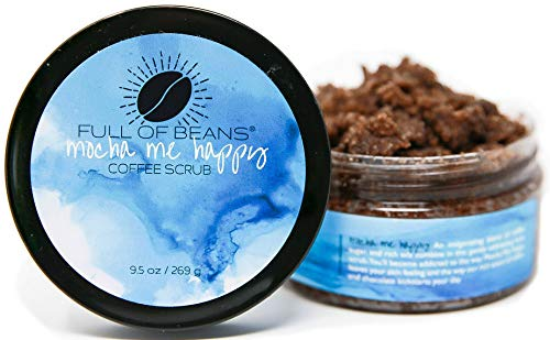 Natural and Organic Coffee Sugar Scrub – Mocha me Happy exfoliating and moisturizing scrub for Face/Body – by Full of Beans