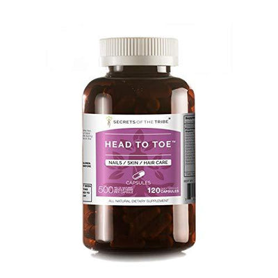 Head to Toe 120 Capsules(2 pcs.), 500 mg, Chamomile, Witch Hazel, Pot Marigold, Turmeric, Stinging Nettle, Rosemary. Nails/Skin/Hair Care (2x120 Capsules) 2x120 Capsules