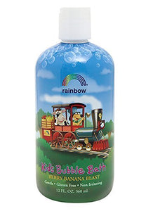 Rainbow Research Organic Herbal Bubble Bath for Kids, Berry Banana Blast - 12 Oz