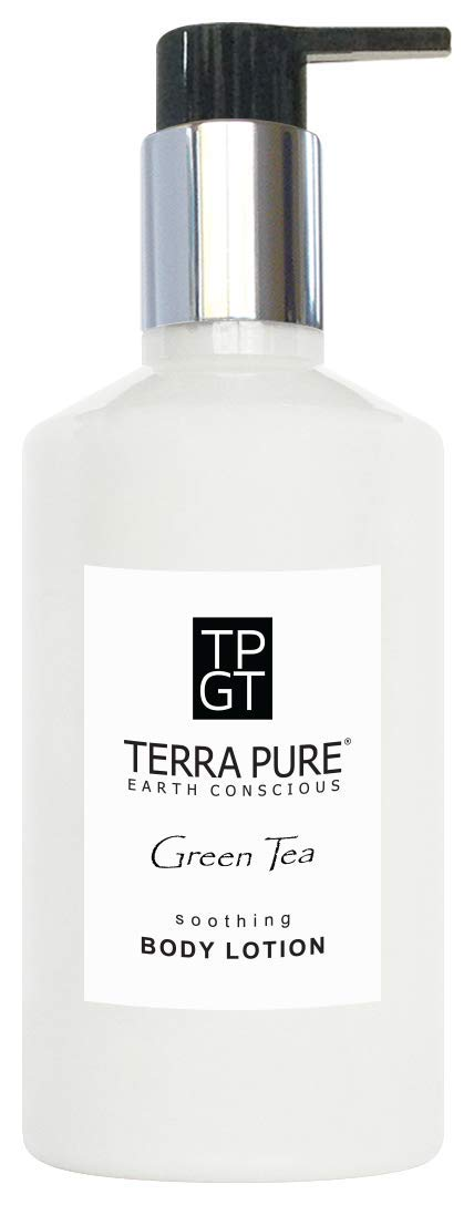 Terra Pure Lotion, Retail Size Hotel Amenities, 10.14 oz. (Single) Terra Pure Green Tea