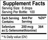 Go Nutrients Selenium 200mcg Supplement - Yeast Free Liquid Drops - Helps Support Thyroid Health, Fight Free Radicals & Boost Immune System - 1 oz Bottle