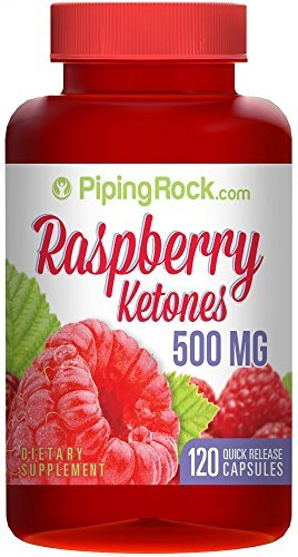 Piping Rock Raspberry Ketones 500 mg 120 Quick Release Capsules Dietary Supplement by Piping Rock Health Products