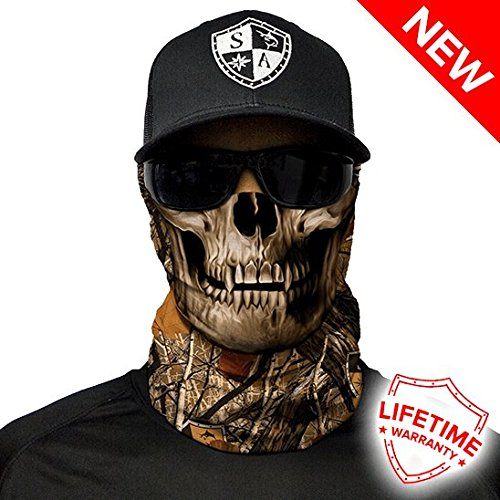 Salt Armour Face Shield | Forest Camo Skull