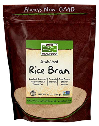 NOW Foods Rice Bran - 20 oz - 2 pk 1.25 Pound (Pack of 2)