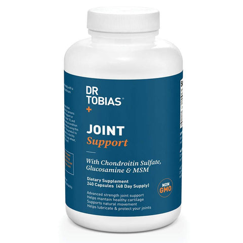 Dr Tobias Joint Support - Extra Strength Hip, Knee & Joint Supplement with Chondroitin Sulfate, Glucosamine & MSM (240 Count)