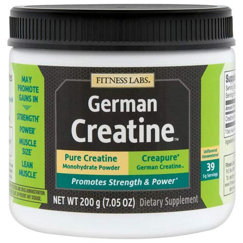 Fitness Labs Creapure German Creatine Powder, 40 Servings, 200 Grams