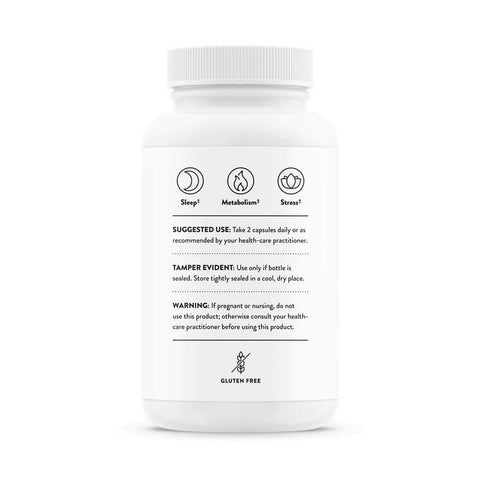 Thorne Research - Relora Plus - Proprietary Blend of Plant Extracts with B Vitamins - Helps Reduce Stress-Related Eating - 60 Capsules Standard Packaging