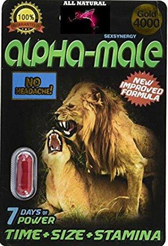 Alpha-Male 4000 Gold Male Sexual Performance Enhancement Pills + Free Gift (30)