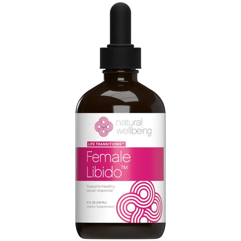 Natural Wellbeing - Female Libido - Natural Female Libido Enhancement Supplement for Women - 4 oz Alcohol Free