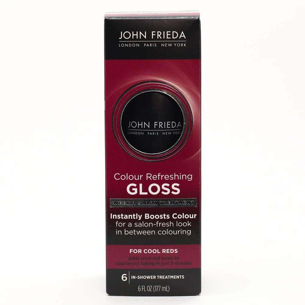 John Frieda Colour Refreshing Gloss, Cool Red, 6 Ounce