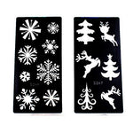 Xmasir 6 Sheet Glitter Tattoo Stencils for Kids Christmas Party Decoration Chlidren Drawing Templates Temporary Tattoo 18 X 8.5cm