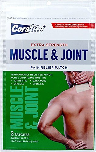 Extra Strength Muscle & Joint Pain Relief Patch Bulk Case of 24 by Coralite